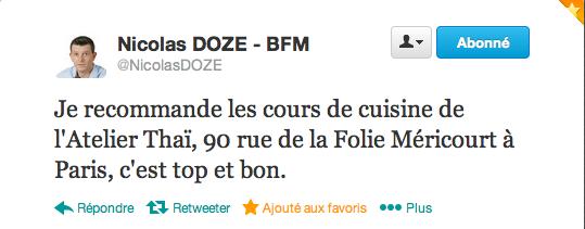 Compte Twitter Nicolas DOZE (suite atelier du 30 nov)